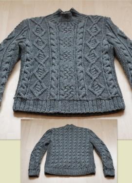 Vyriškas megztinis, 80% vilna, 20% akrilanas