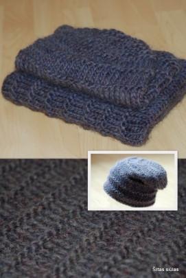 Komplektas: gobtuvas ir kepurė 100% vilna